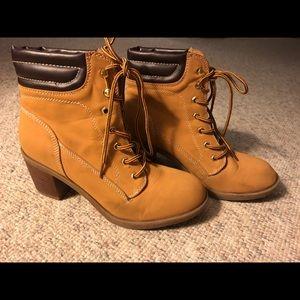 Cute Work Boot Booties/Heels